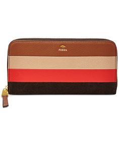 Fossil Gifting Leather Zip Clutch Wallet