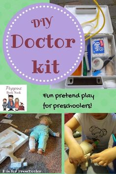 Make your own doctor's kit for preschoolers - great for encouraging pretend play!