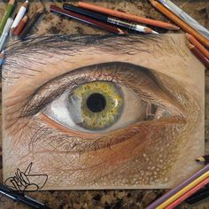 drawing using only colored pencils for art