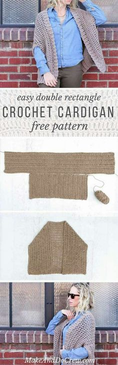 Easy cocoon shrug pattern