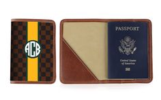 The Glasgow Passport Case - Green and Gold