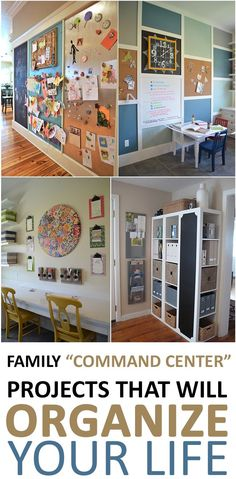 Family Command Center Projects that will Organize Your Life