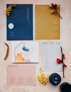 Life Imitates Art in this Muted Spring Wedding Inspiration Modern Wedding Stationery, Wedding Invitation Design, Wedding Stationary, Wedding Programs, Save The Date Karten, Floral Print Design, Modern Wedding Inspiration, Backdrop Design, Ceremony Backdrop