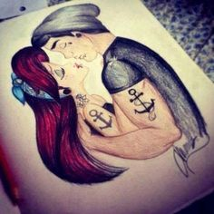 Don't judge me, I just love the fan art of disney characters with tattoos and piercings xD