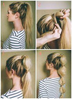 tuto bubble ponytail