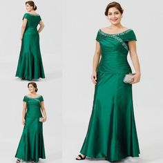 NEW Crystal Mother of the Bride Dresses Plus Size Cap Sleeve Evening Party Gowns Mother Of The Bride Suits, Mother Of Groom Dresses, Bride Groom Dress, Bride Gowns, Mother Bride, Vestidos Plus Size, Plus Size Gowns, Wedding Dresses Plus Size, Evening Party Gowns