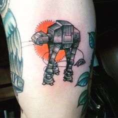 star wars tattoo, AT-AT tattoo