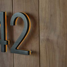 Illuminated Bronze House Numbers - Outdoor Backlit Signs - The Bronze inch LED Illuminated House Numbers. The numbers are finished is . Hotel Signage, Retail Signage, Wayfinding Signage, Signage Design, Illuminated House Numbers, Web Banner Design, Backlit Signs, Signage Board, Exterior Signage