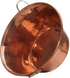 Sertodo Permian Basin, 20 inch diameter by 9 inches deep, Hammered Copper with Stainless Steel handle