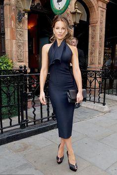 Kate Beckinsale wearing Charlotte Olympia Daphne Pumps and Vhernier Plisse Earrings