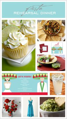 Theme Party Thursday: Mexican Fiesta Rehearsal Dinner | Polka Dot Design Blog: Ideas, Inspiration & Invitations