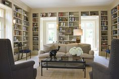 Imagine how tidy and neat my entire house would be if *only* I had these beautiful bookshelves...