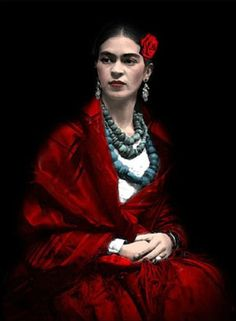 Painter Frida Kahlo was a Mexican artist who was married to Diego Rivera and is still admired as a feminist icon. Frida E Diego, Diego Rivera Frida Kahlo, Frida Art, Tina Modotti, Kunst Online, Mexican Artists, Great Artists, Lady In Red, My Idol
