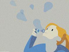 Creative Minds by Julia #vector#art#illustration#magazine#conceptual#creativity#children#mind#ideas