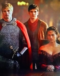 King Arthur, Queen Guinevere, and Merlin