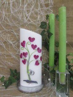 Hochzeitskerze *Love Code in a Tree* von WACHSLÄDLE auf DaWanda.com