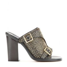 mytheresa.com - Daria studded leather mules - High-heel - Sandals - Shoes - Chloé - Luxury Fashion for Women / Designer clothing, shoes, bags