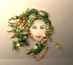 Image detail for -Beautiful food art – girl L'art Du Fruit, Fruit Art, Fruit Cakes, Edible Food, Edible Art, Veggie Art, Veggie Food, Food Food, Veggie Plate