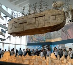 An enormous airship from Studio Ghibli's 'Castle in the Sky' celebrates the work of Hayao Miyazaki's animation studio. The piece was installed in Tokyo as part of a 2016 anniversary exhibition to celebrate the beloved anime and animation studio. Castle In The Sky, Zeppelin, Studio Ghibli, Tokyo City View, Roppongi Hills, Steampunk, Exhibition Display, Hayao Miyazaki, Event Photos