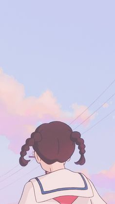 Studio Ghibli's From Up on Poppy Hill Iphone Wallpaper Kawaii, Soft Wallpaper, Aesthetic Pastel Wallpaper, Arte Do Kawaii, Kawaii Art, Art Anime, Anime Art Girl, Cute Cartoon Wallpapers, Animes Wallpapers