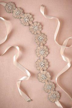 Zinnia Sash from BHLDN makes me want to throw the bridal sash we just bought out. Bridal Sash Belt, Wedding Dress Sash, Wedding Belts, Bridal Belts, Wedding Dresses, Bridal Accessories, Bridal Jewelry, Mode Boho, Sash Belts