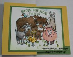Unicorn Birthday Cards, Bday Cards, Alcohol Markers, Get Well Cards, Animal Cards, Pretty Cards, Stamping Up, Cool Cards, Stampin Up Cards