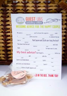 wedding mad lib- guest book