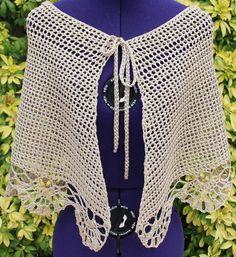 Chauffe épaules, cache épaules, couvre épaules, boléro dentelle, châle au crochet en coton et viscose beige https://www.alittlemarket.com/boutique/chaliere-2339933.html