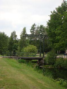 Een klein bruggetje tussen het groen. A small bridge in the green.