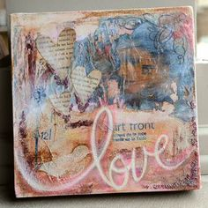 altered canvas by Vicki Boutin.