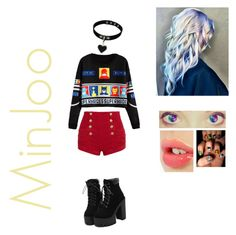 """MinJoo"" by babykookie971 ❤ liked on Polyvore featuring WithChic, Pierre Balmain, P & Lot and Charlotte Tilbury"
