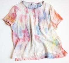 creatures of comfort gauze tie-dyed top