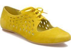 as im trying to concoct a caption for this pin, all i can think is how the color of these lovely shoes perfectly matches the skin on my keyboard. i guess i just have a thing for canary yellow.