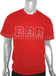 Price: $39.00  Red Beta Theta Pi t-shirt with the Greek letters across the chest.