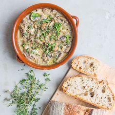 Creamy Garlic and Thyme Mushrooms