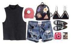 """""""Untitled #2776"""" by wtf-towear ❤ liked on Polyvore featuring H&M, WithChic, LoveStories and Converse"""