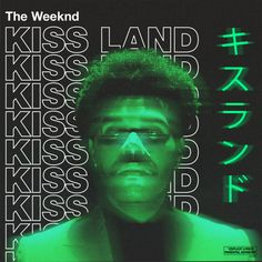 Graphic Design Posters, Graphic Design Inspiration, Music Covers, Album Covers, The Weeknd Poster, Cover Art, Cd Cover, Kiss Land, Schrift Design