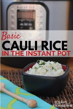 You can make grain-free cauli rice in the Instant Pot  http://www.kitchenstewardship.com/2016/03/11/instant-pot-cauli-rice/