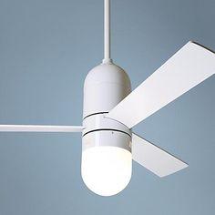 "42"" Modern Fan Gloss White Cirrus with Light Ceiling Fan"