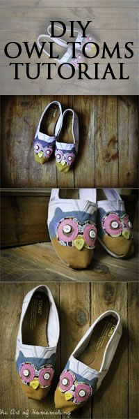 Make these in just an afternoon. I might actually wear toms like these...