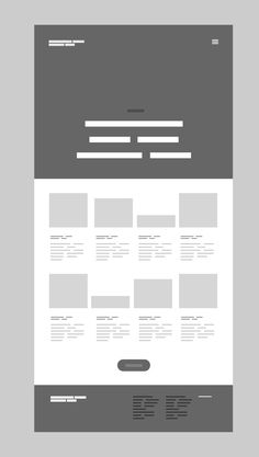 Editorial wireframe
