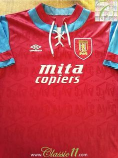 Relive Aston Villa's 1992/1993 season with this original Umbro home football shirt.