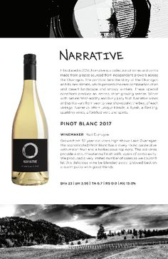 Narrative | 2017 Pinot Blanc Tasting Notes from the Okanagan Pinot Blanc, Red Wine, Alcoholic Drinks, Conditioner, Notes, Report Cards, Liquor Drinks, Notebook, Alcoholic Beverages