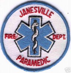 Wisconsin - Janesville Fire Department Paramedic (Wisconsin) - PatchGallery.com Online Virtual Patch Collection By: 911Patches.com - Fire Departments EMS Ambulance Rescue Police Sheriffs Depts Law Enforcement and Public Safety Patches Emblems Logos