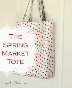 Free Bag Pattern - Spring Market Tote Bag