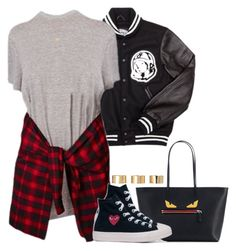 """Outfit"" by styledbykayj ❤ liked on Polyvore featuring Billionaire Boys Club, Fendi, Converse, Joolz by Martha Calvo and ASOS"
