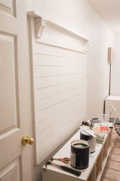 Check this out Bathroom Counter Decor Farmhouse Hall Trees, Farmhouse Style, Ikea Hall, White Hall Tree, Hall Tree Bench, Mudroom Laundry Room, Diy Bench, Ship Lap Walls, Decoration