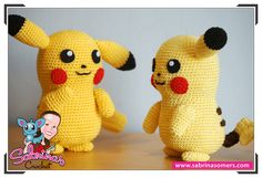 Free amigurumi pattern to crochet your own Pikachu! Besides pikachu I have many more pokemon patterns! Pokemon Crochet Pattern, Pikachu Crochet, Crochet Patterns Amigurumi, Crochet Dolls, Pikachu Pikachu, Cute Crochet, Crochet For Kids, Crochet Crafts, Crochet Projects