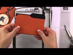 File Folder Card. How to make a file folder card using the envelope Punch Board. So clever!
