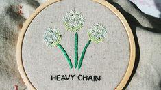 heavy chain stitch allium hand embroidery Allium, Chain Stitch, Hand Embroidery
